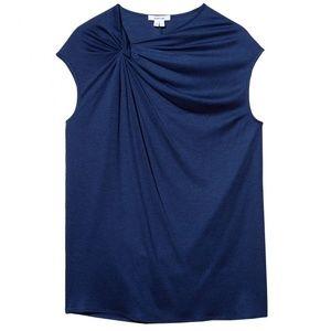 HELMUT LANG Sync Jersey Knot Top Lapis Blue XS